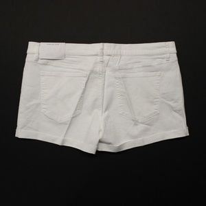 Loft Fresh Cut Flip Cuff Denim Shorts - White